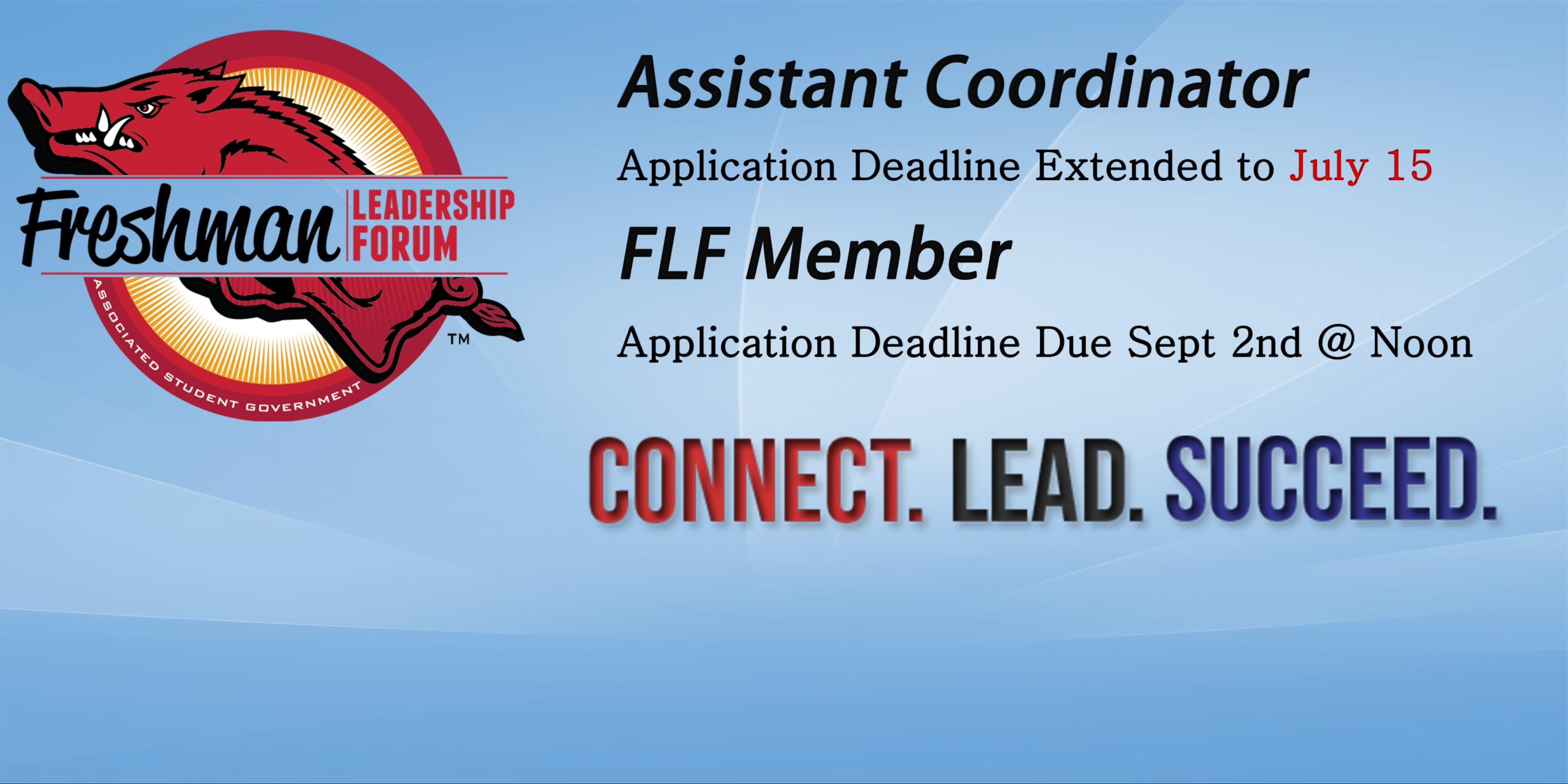 Freshman Leadership Forum Applications Open!